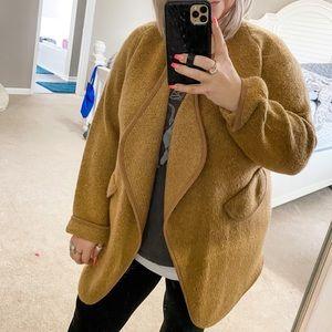 Unbranded Brown/Tan Cardigan-Coat